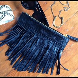 Black Fringe Clutch Small but Mighty...stylish!